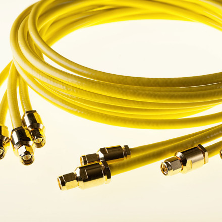 Picture of triaxial cable with SMB BNC connectors
