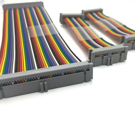 Picture of various ribbon cable assemblies